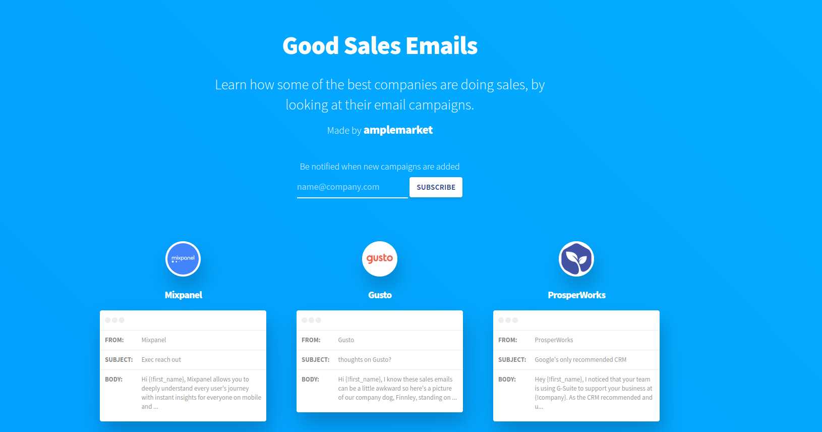 cold email tips good sales emails